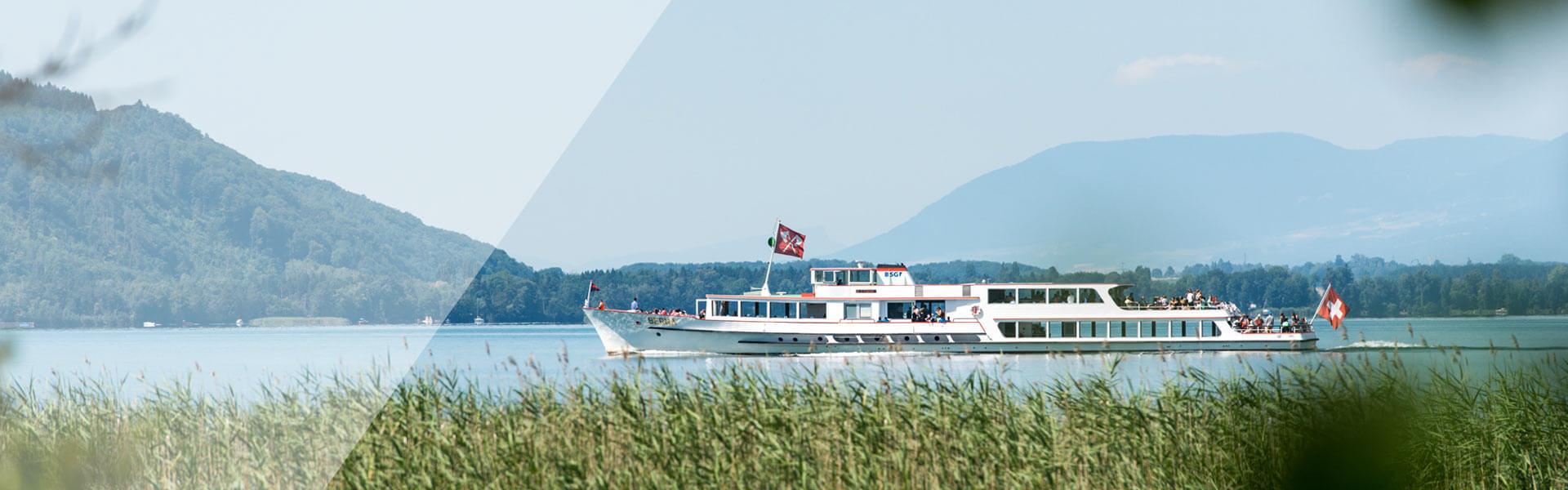 Schiff auf dem Bielersee